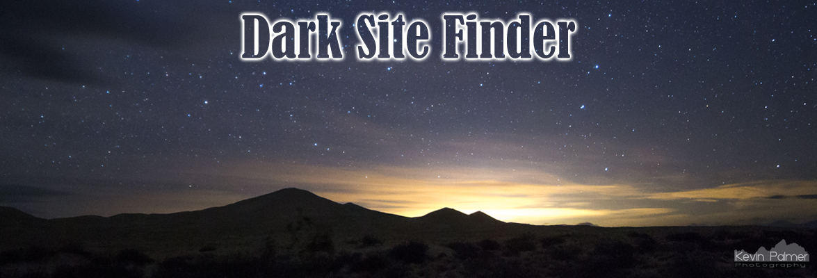 Map Dark Site Finder - Us light pollution map