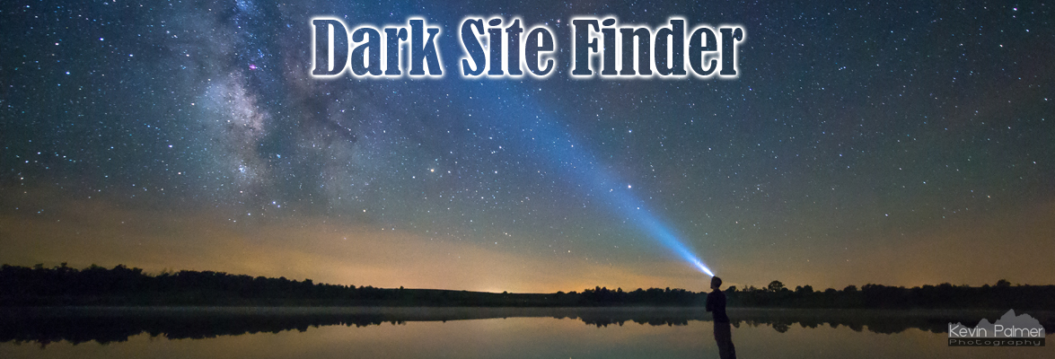 Map Dark Site Finder - Bortle map us
