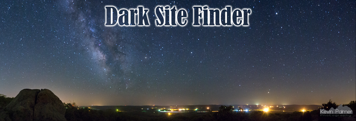Dark Site Finder Light Pollution Maps - Us dark skys map