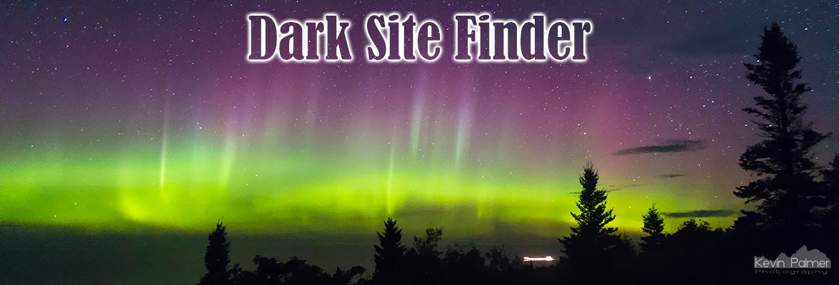 Map Dark Site Finder - Map of light pollution us
