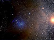 Antares extending in the direction of Rho Ophiuchi