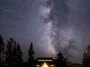 Milky Way Above Old Faithful Visitor Center